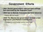 government efforts8