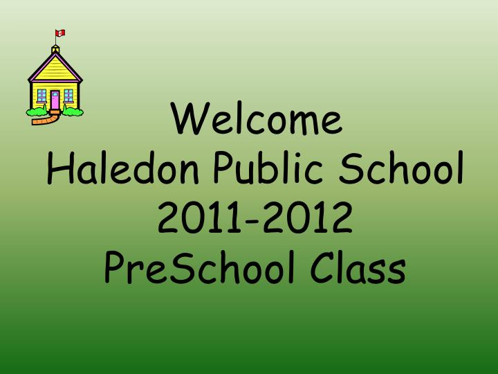 Welcome haledon public school 2011 2012 preschool class