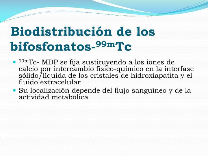 Biodistribución de los bifosfonatos-
