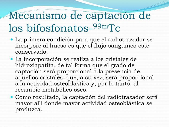 Mecanismo de captación de los bifosfonatos-
