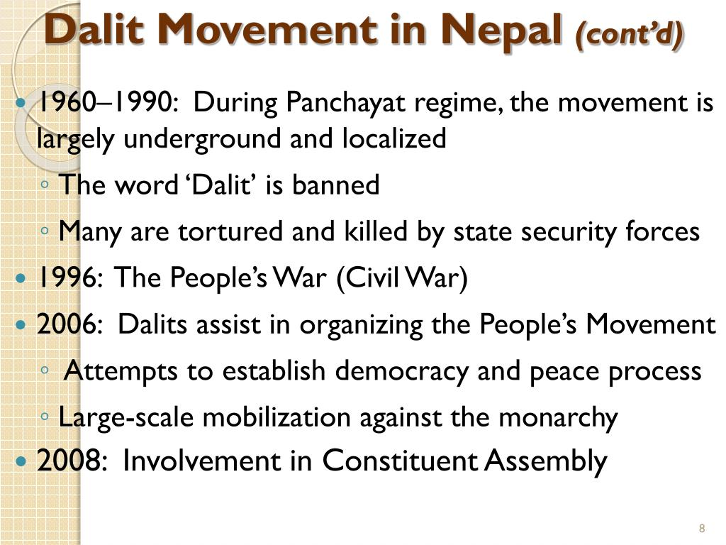Dalit Movement in Nepal