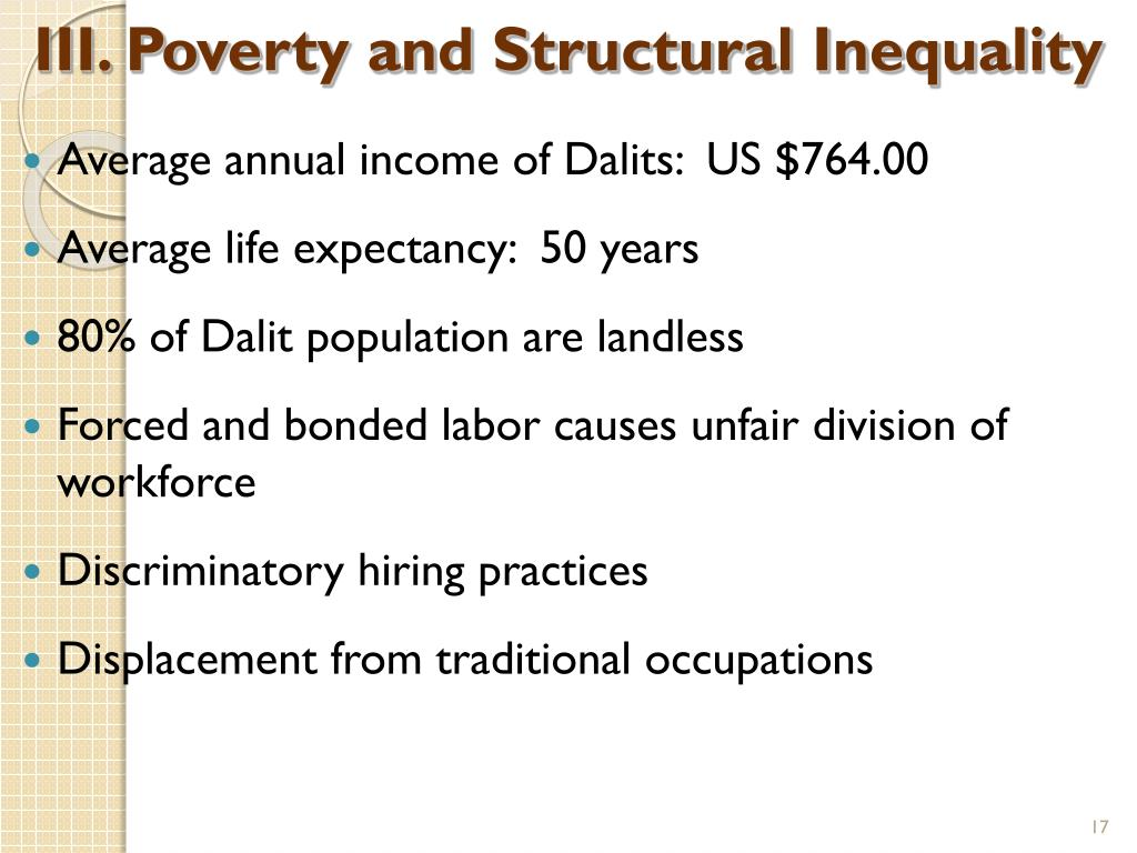 III. Poverty and Structural Inequality
