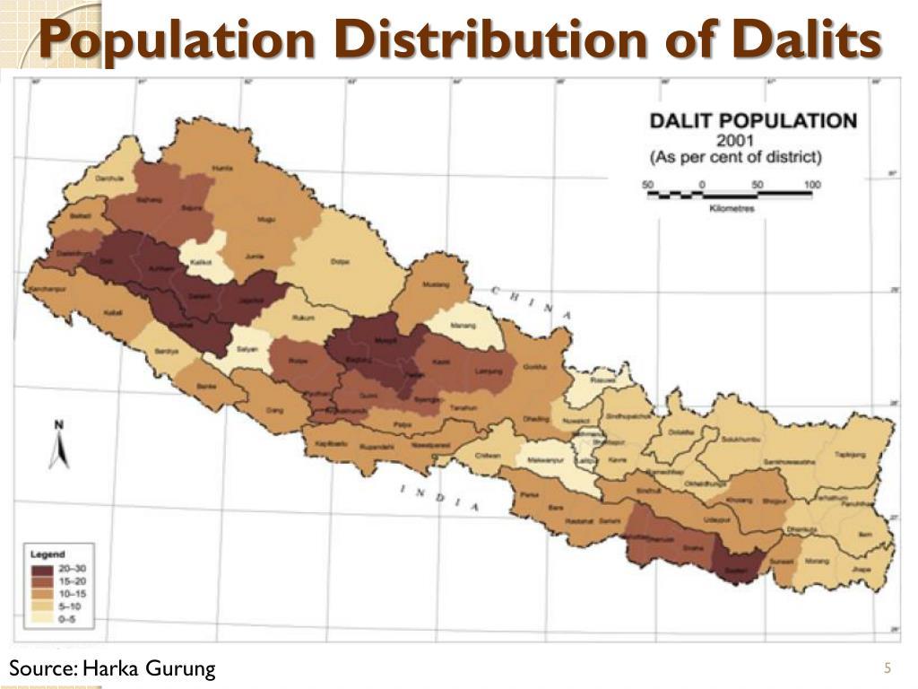 Population Distribution of Dalits