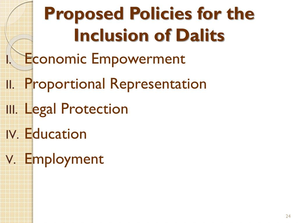 Proposed Policies for the