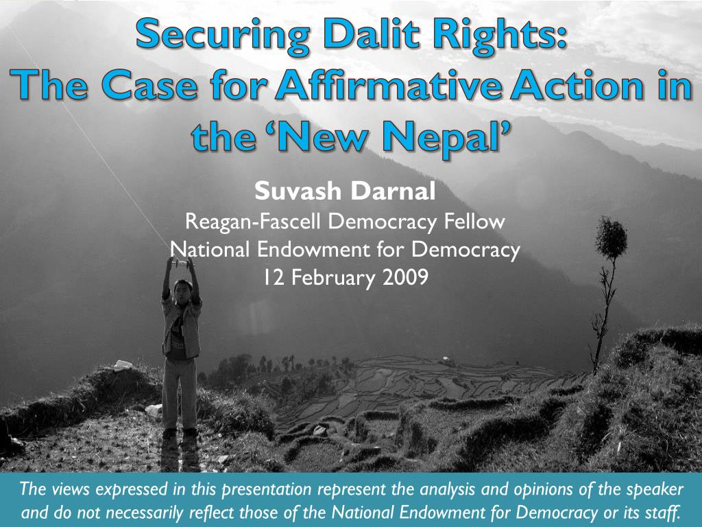 Securing Dalit Rights: