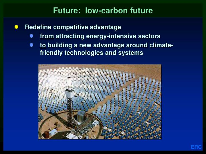 Future:  low-carbon future
