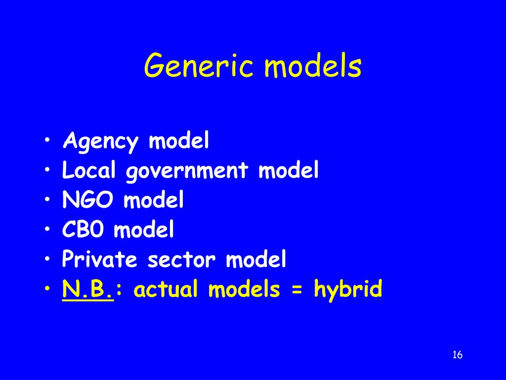 Generic models