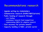 recommendations research
