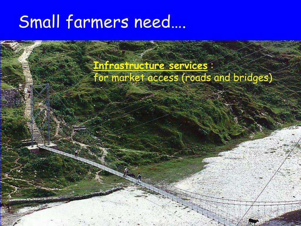 Small farmers need….