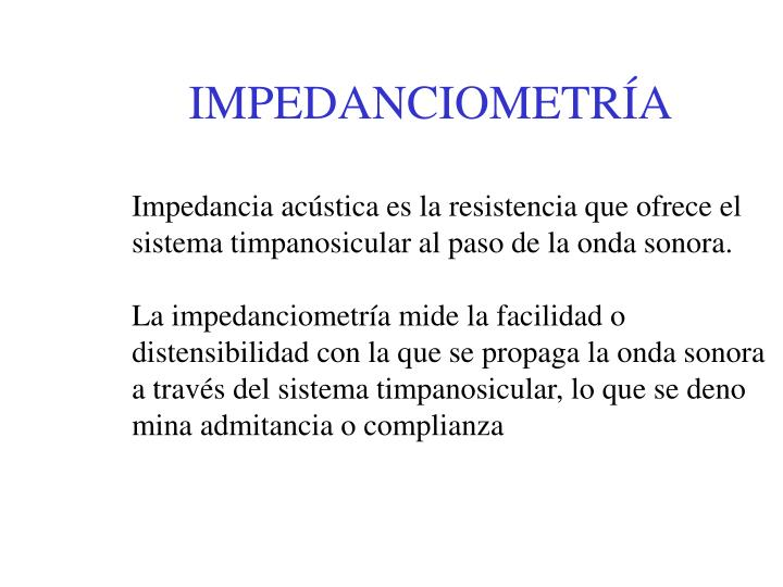 IMPEDANCIOMETRÍA