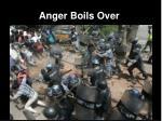 anger boils over