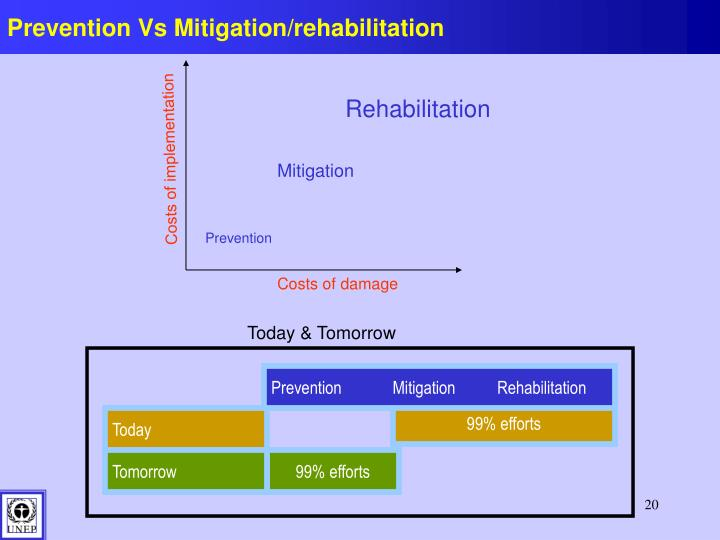 Prevention Vs Mitigation/rehabilitation