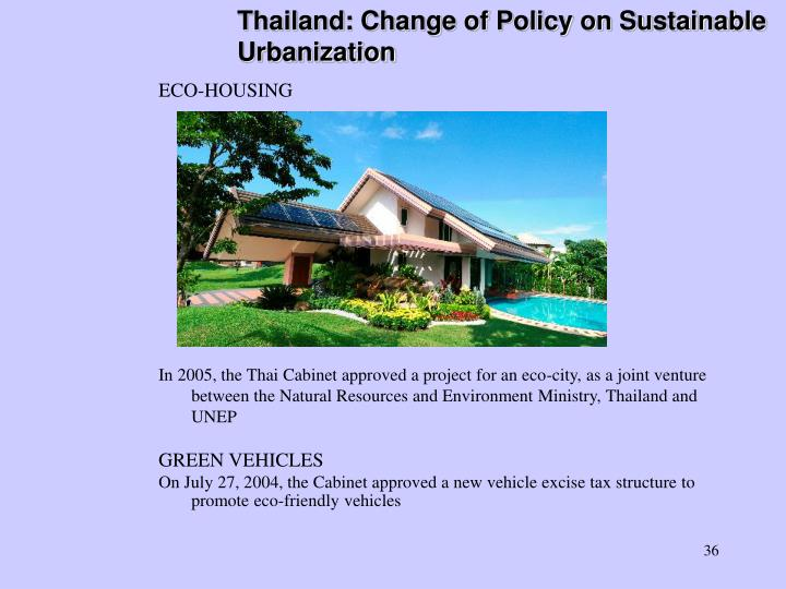 Thailand: Change of Policy on Sustainable Urbanization
