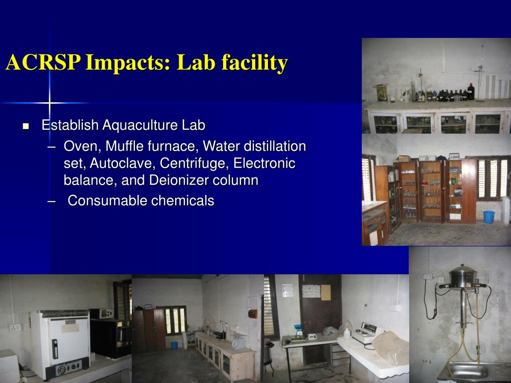 ACRSP Impacts: Lab facility