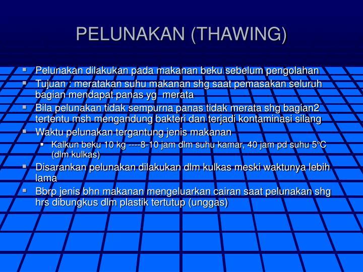 PELUNAKAN (THAWING)