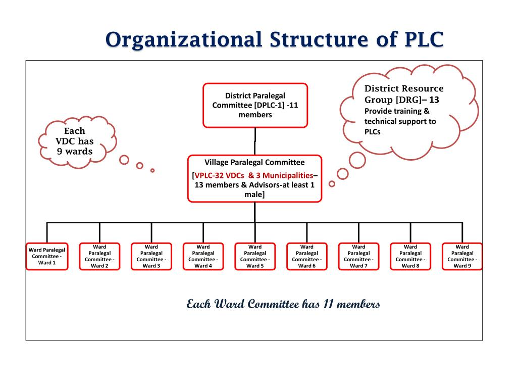 Organizational Structure of PLC