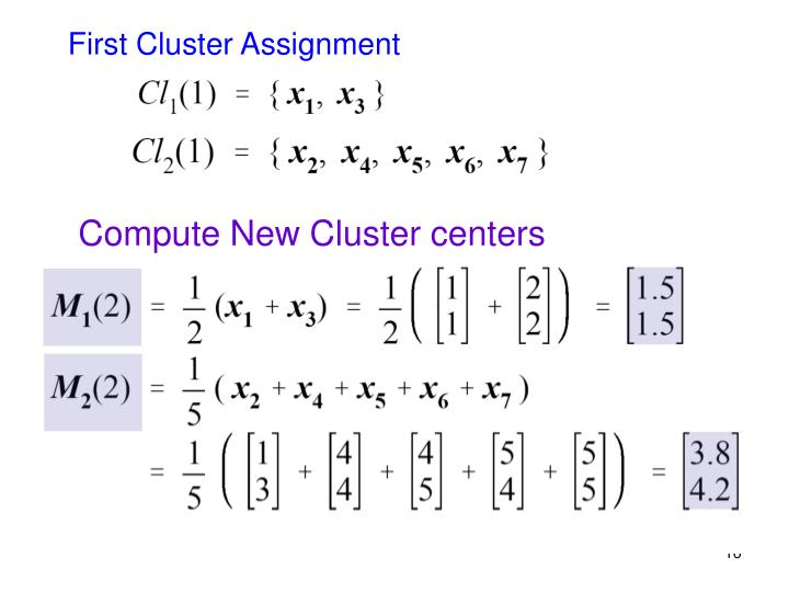First Cluster Assignment