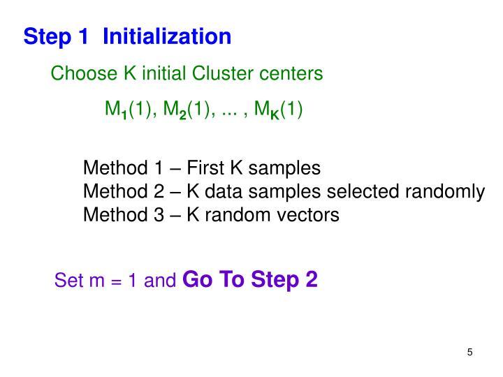 Step 1  Initialization