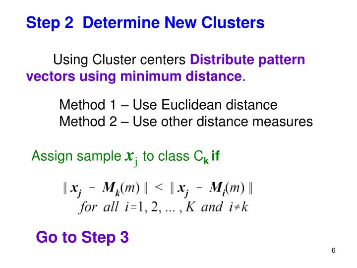 Step 2  Determine New Clusters