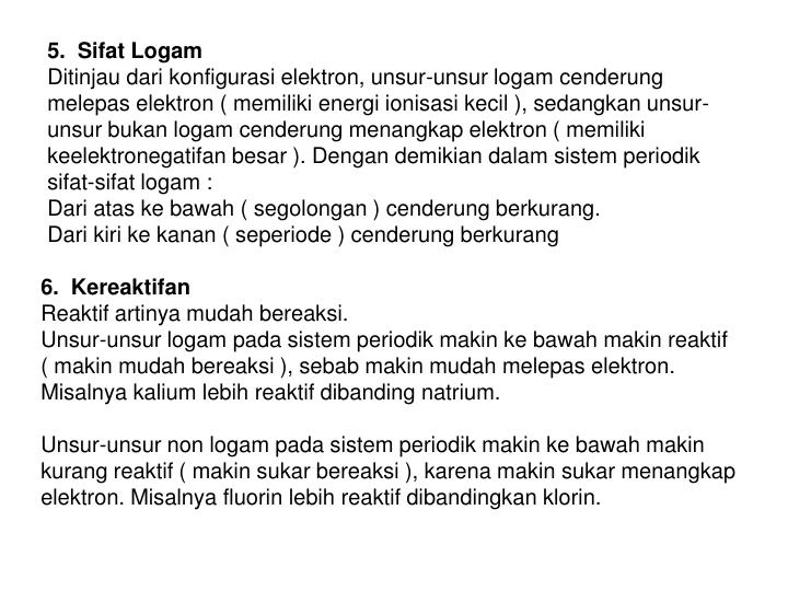 5.  Sifat Logam
