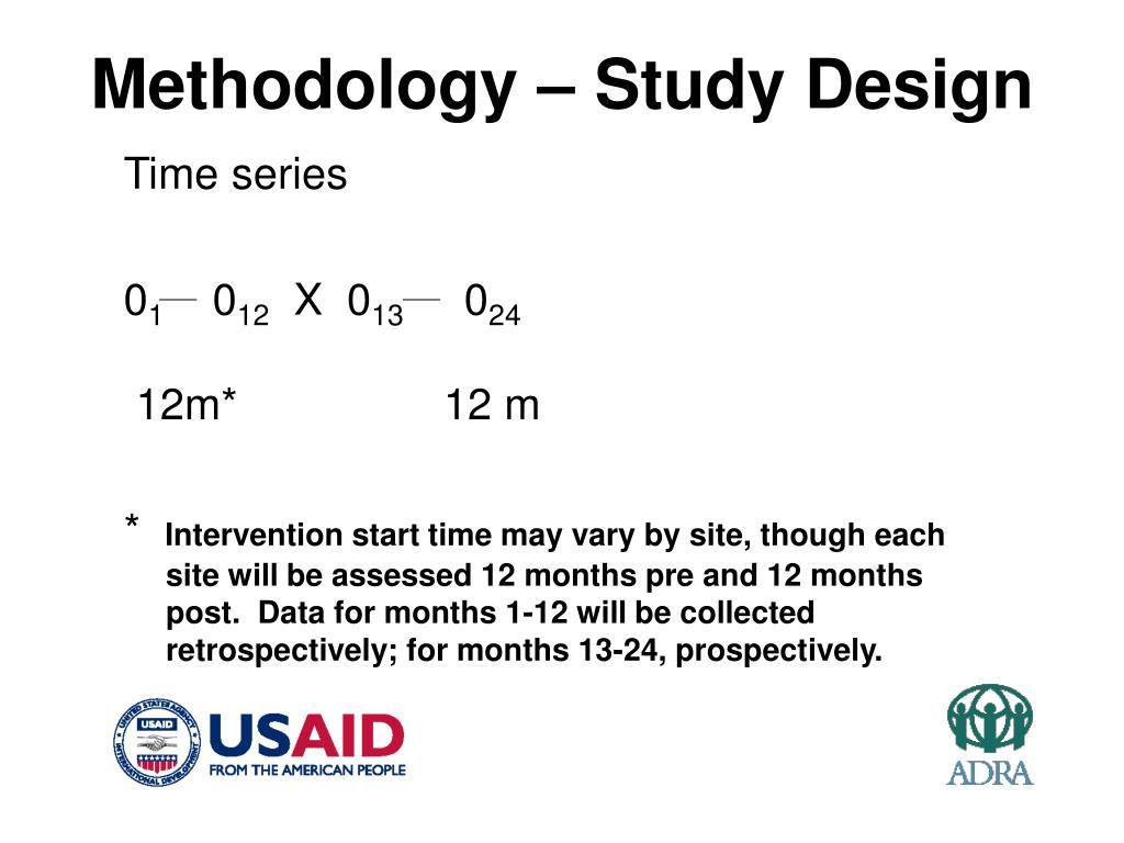 Methodology – Study Design