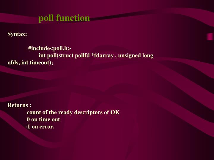 poll function