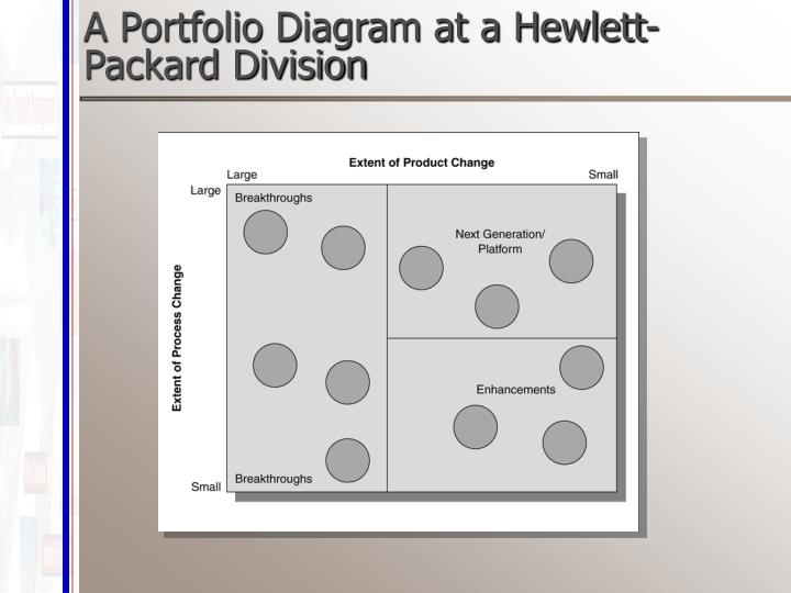 A Portfolio Diagram at a Hewlett-Packard Division