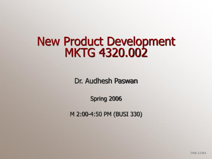 New product development mktg 4320 002
