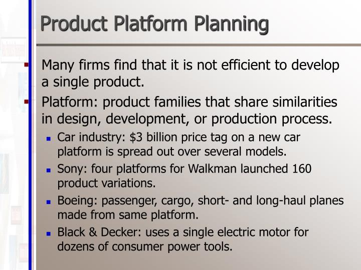 Product Platform Planning
