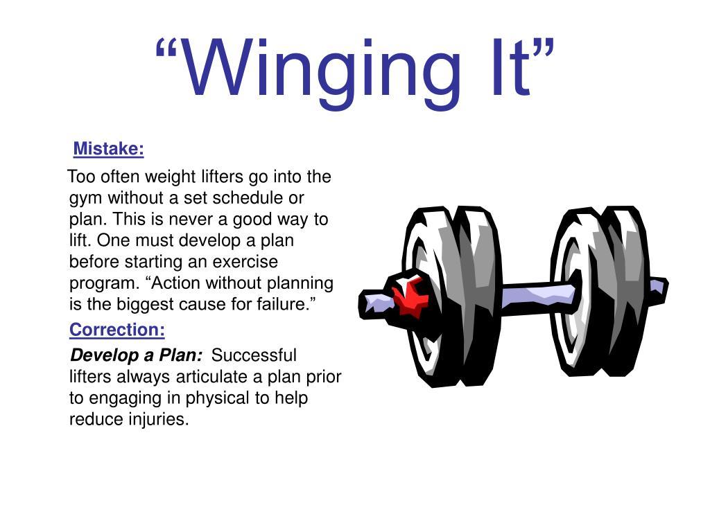 """""""Winging It"""""""