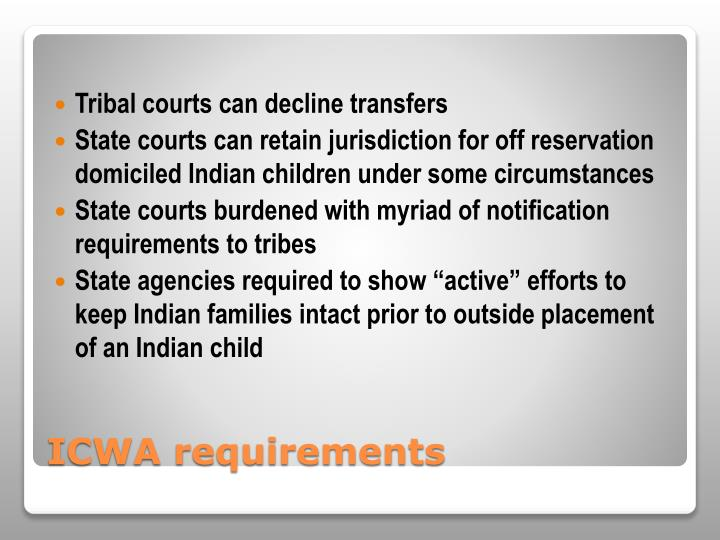 Tribal courts can decline transfers