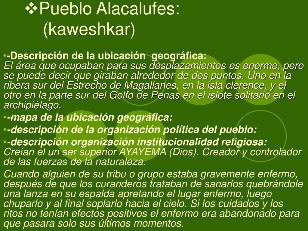 Pueblo Alacalufes: