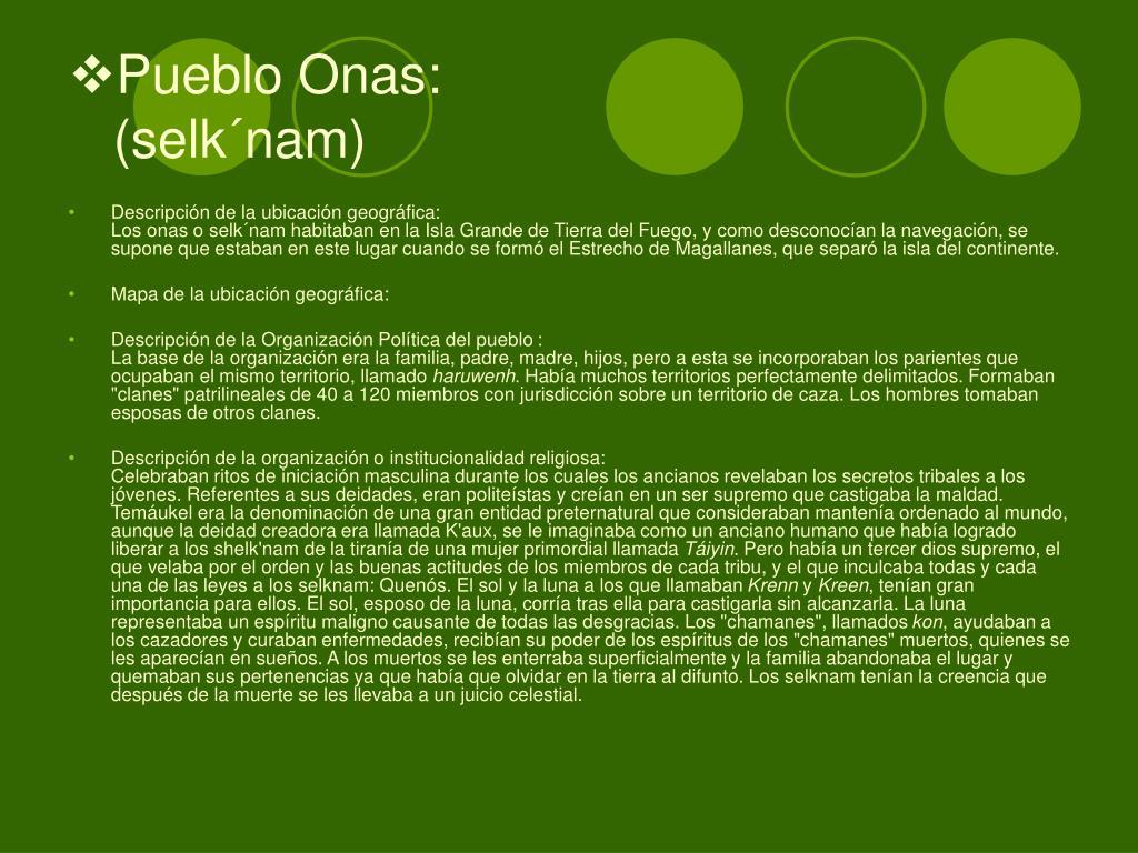 Pueblo Onas: