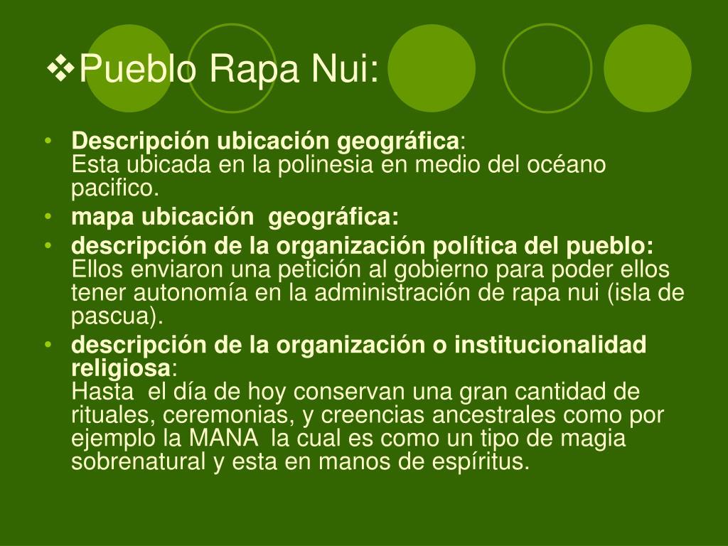 Pueblo Rapa Nui: