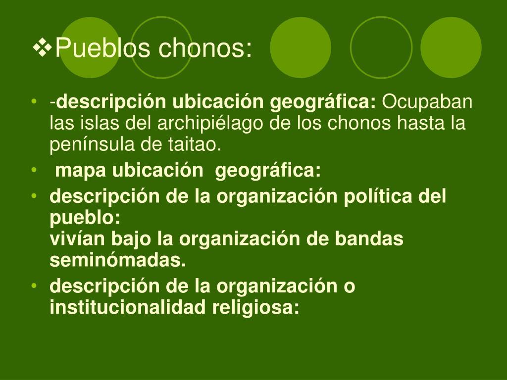 Pueblos chonos: