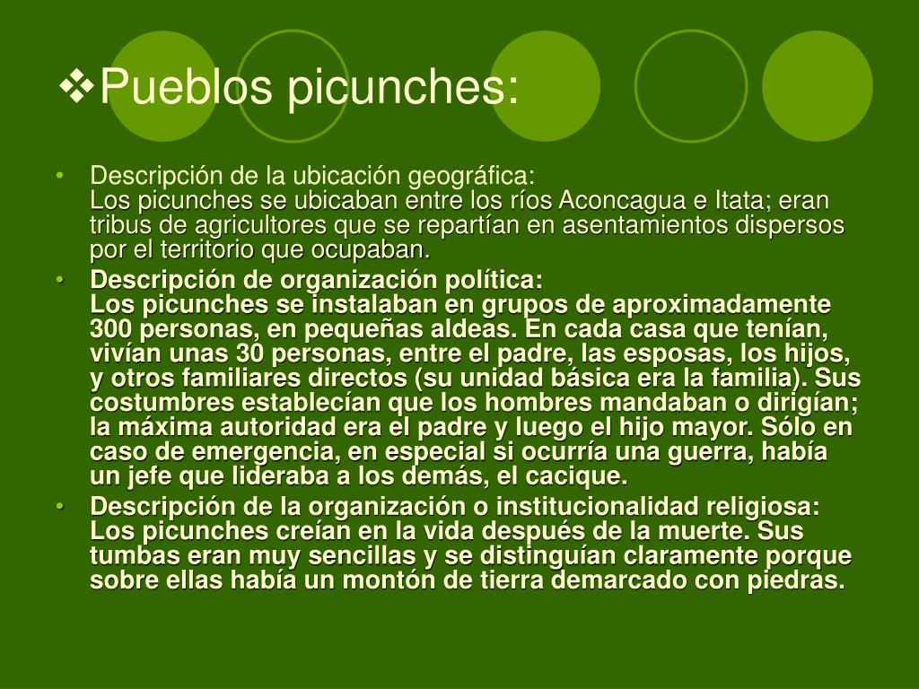Pueblos picunches:
