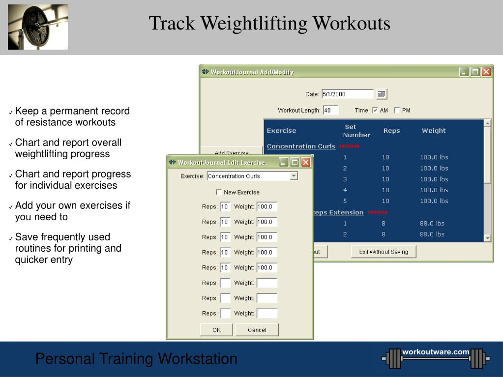 Track Weightlifting Workouts