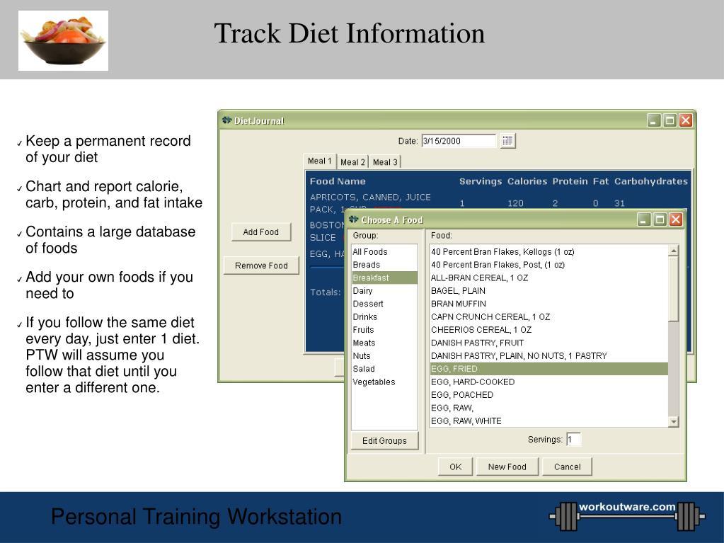 Track Diet Information