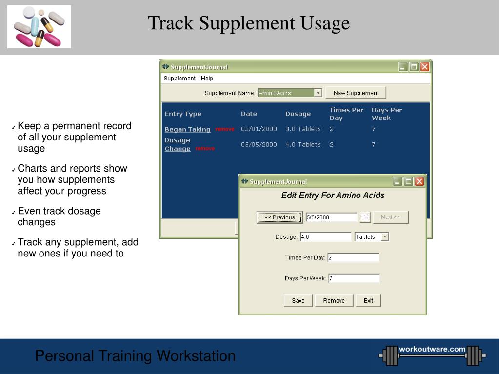 Track Supplement Usage