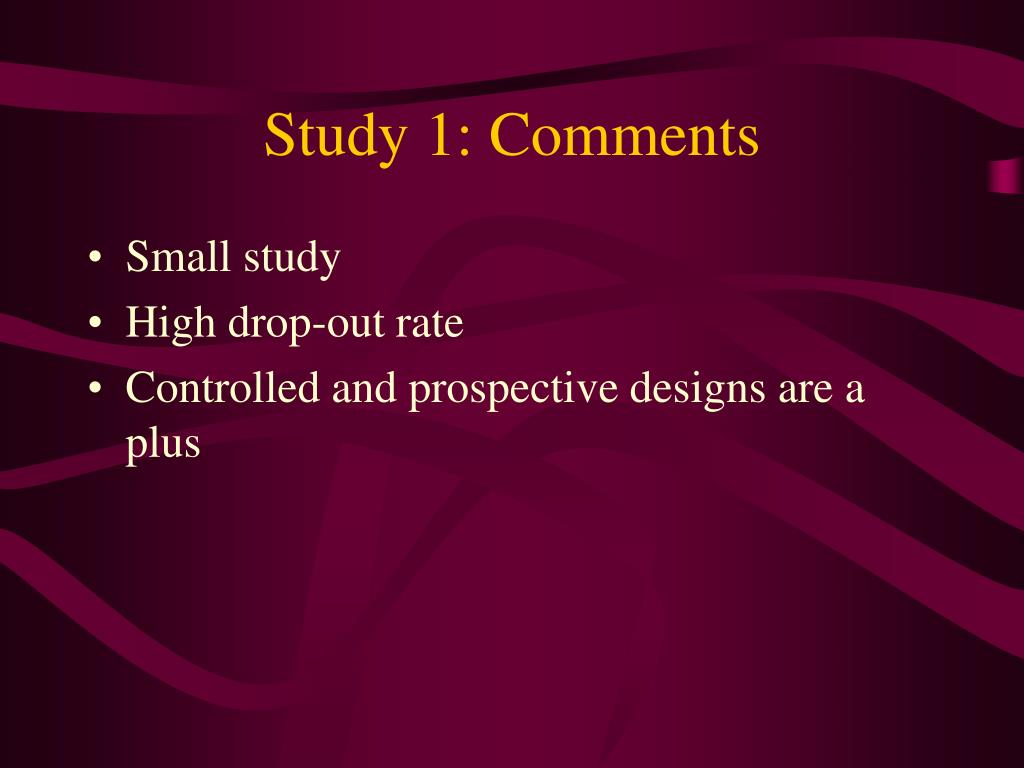 Study 1: Comments
