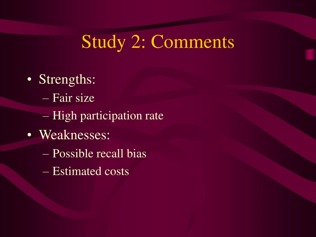 Study 2: Comments