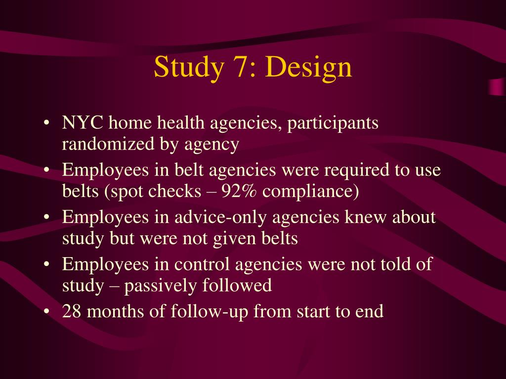 Study 7: Design