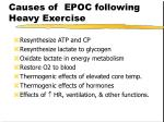 causes of epoc following heavy exercise