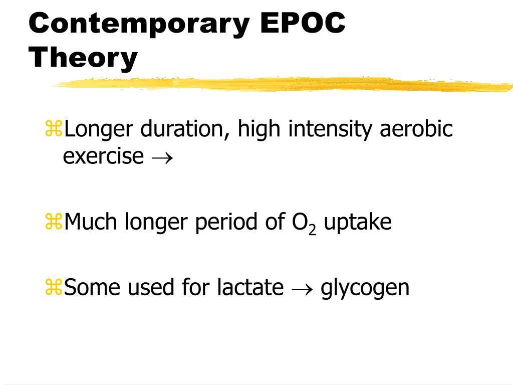 Contemporary EPOC Theory