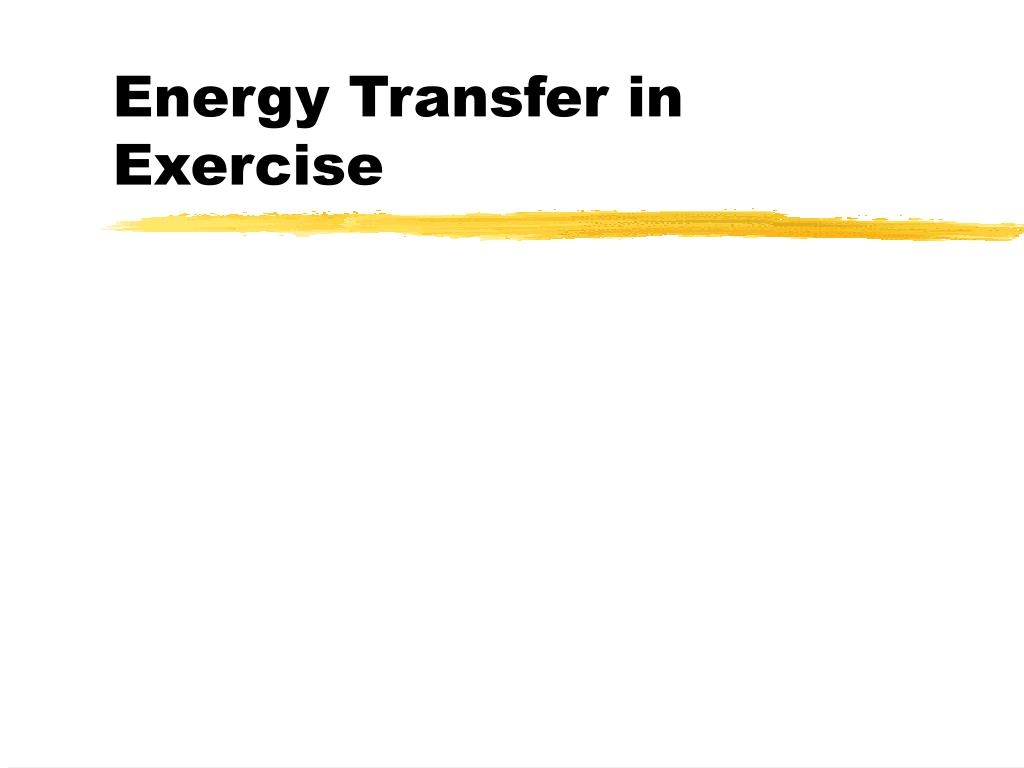 Energy Transfer in Exercise