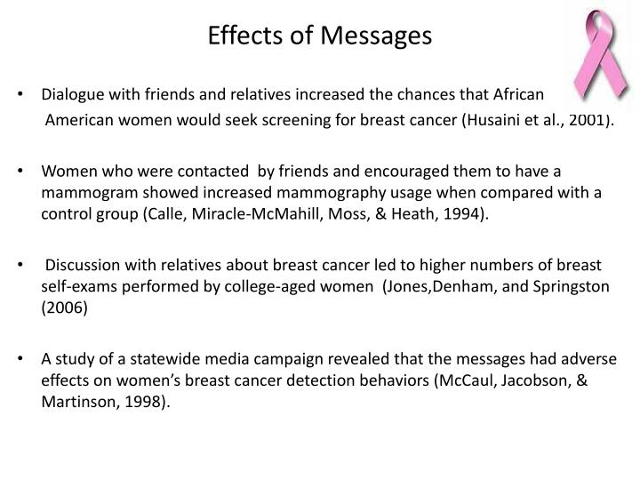 Effects of Messages
