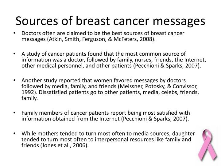 Sources of breast cancer messages
