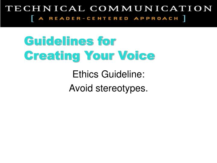 Ethics Guideline: