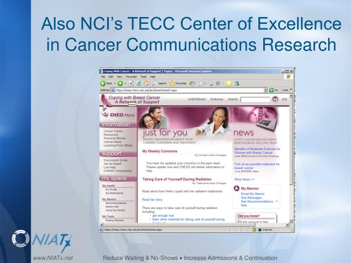 Also nci s tecc center of excellence in cancer communications research