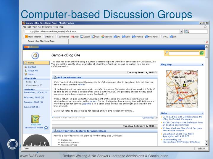 Computer-based Discussion Groups